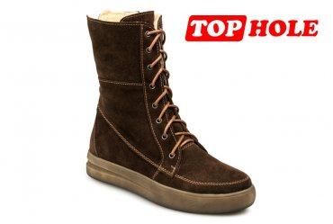 Зимние женские ботинки Top-Hole 038 brown