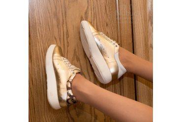 Модные женские туфли (кроссовки) Ari Andano 267 gold