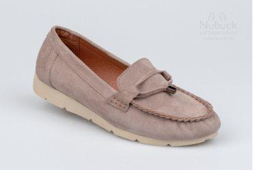 Комфортные женские туфли (мокасины) Ilona 264-14 visone
