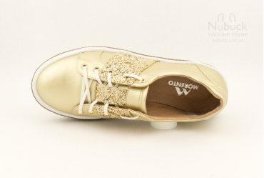 Модные женские туфли (кеды) Morento 6214-099 gold