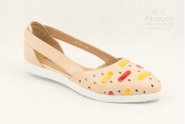 Летние женские туфли (балетки) Morento TGT-031 beige