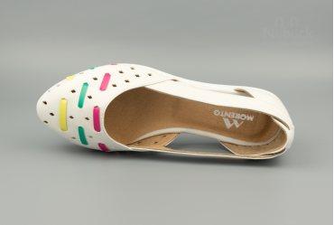 Летние женские туфли (балетки) TGT-031 white