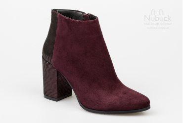 Демисезонные женские ботинки Nivelle 5562-8018 bordo