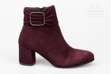 Демисезонные женские ботинки Nivelle 8053-6052 bordo