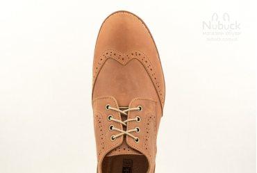 Комфортные мужские туфли броги Shamrock 10.23 brown