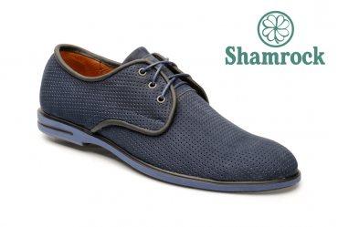 Летние комфортные мужские туфли Shamrock 10.37 blue