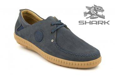 Комфортные мужские туфли SHARK T-202 navy