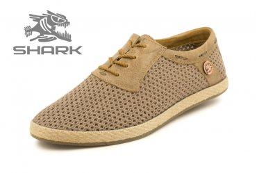Летние мужские туфли SHARK T-437 coffee