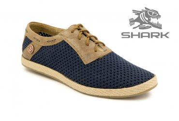 Летние мужские туфли SHARK T-437 navy