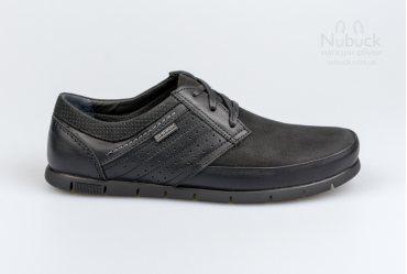 Комфортные мягкие мужские туфли SHARK T-520 black